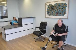Freedom Prosthetics reception area