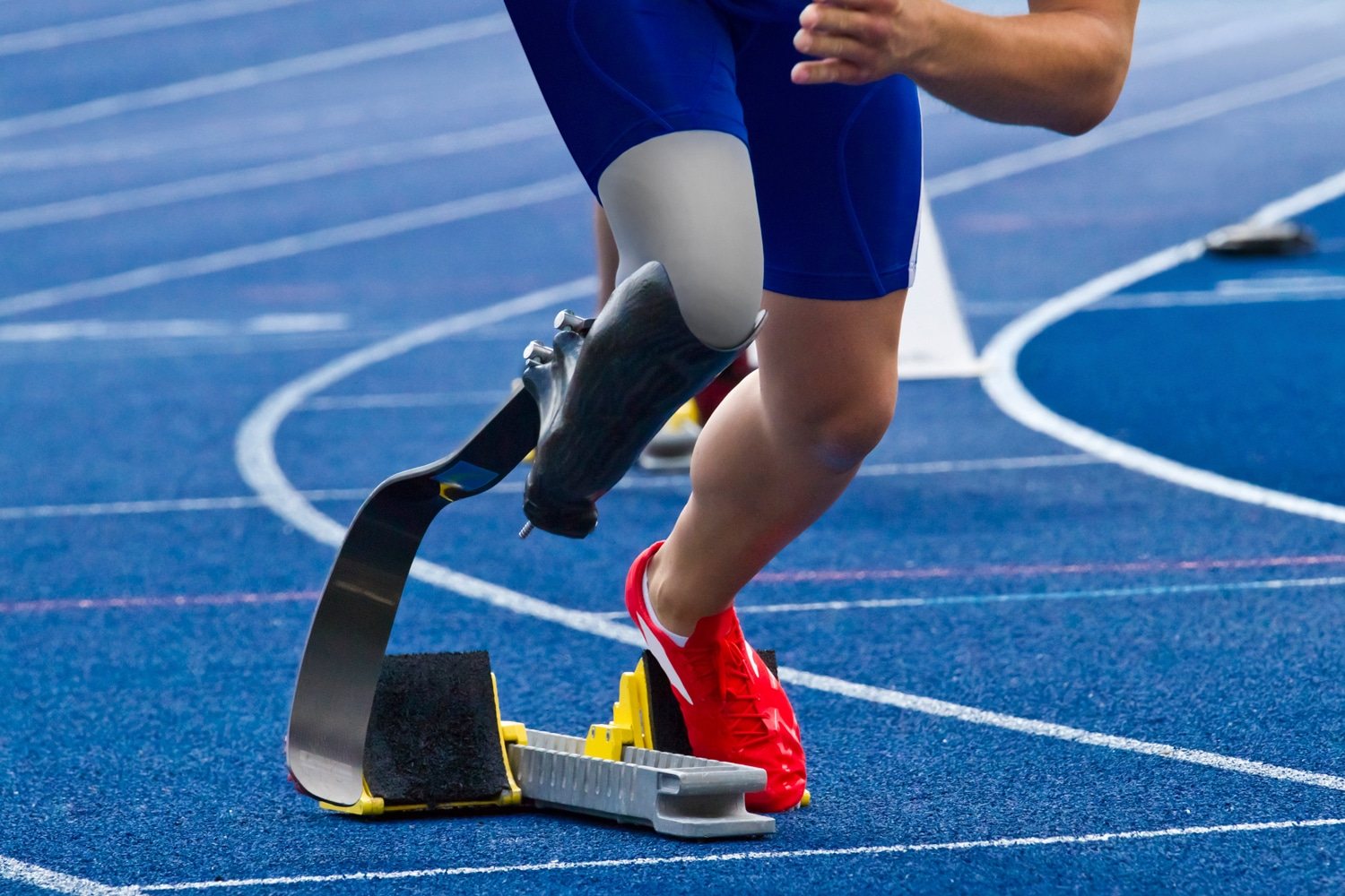 Sprinter with prosthetic